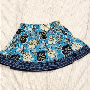 Justice turquoise flower skirt size 8
